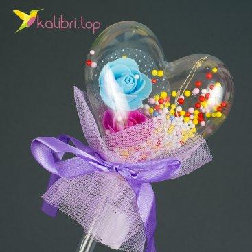 Светящиеся палочка сердечко фиолетовое оптом фото 1