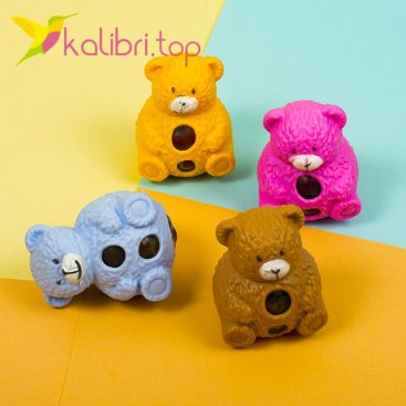 Детская игрушка антистресс Мишки, оптом - фото 1