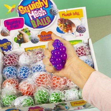 Игрушки антистресс Мозги в сетке неон оптом фото 7