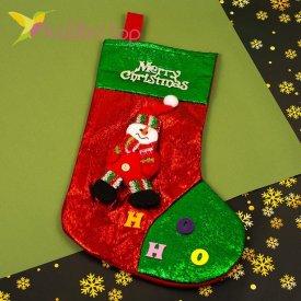 Сапожок для подарков большой с Снеговиком, оптом фото 1