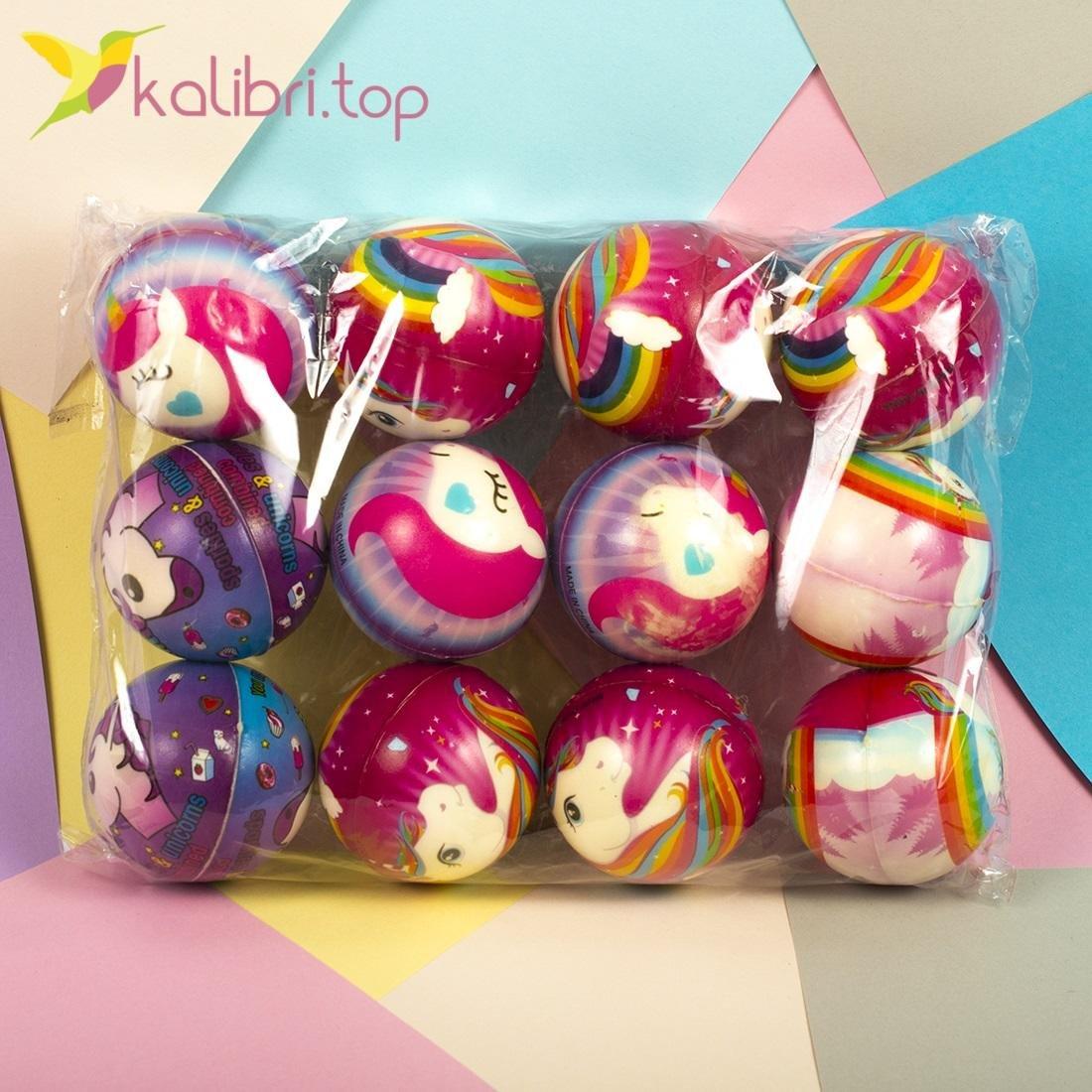 Мячики мягкие, поролоновые Единороги, оптом - фото 3