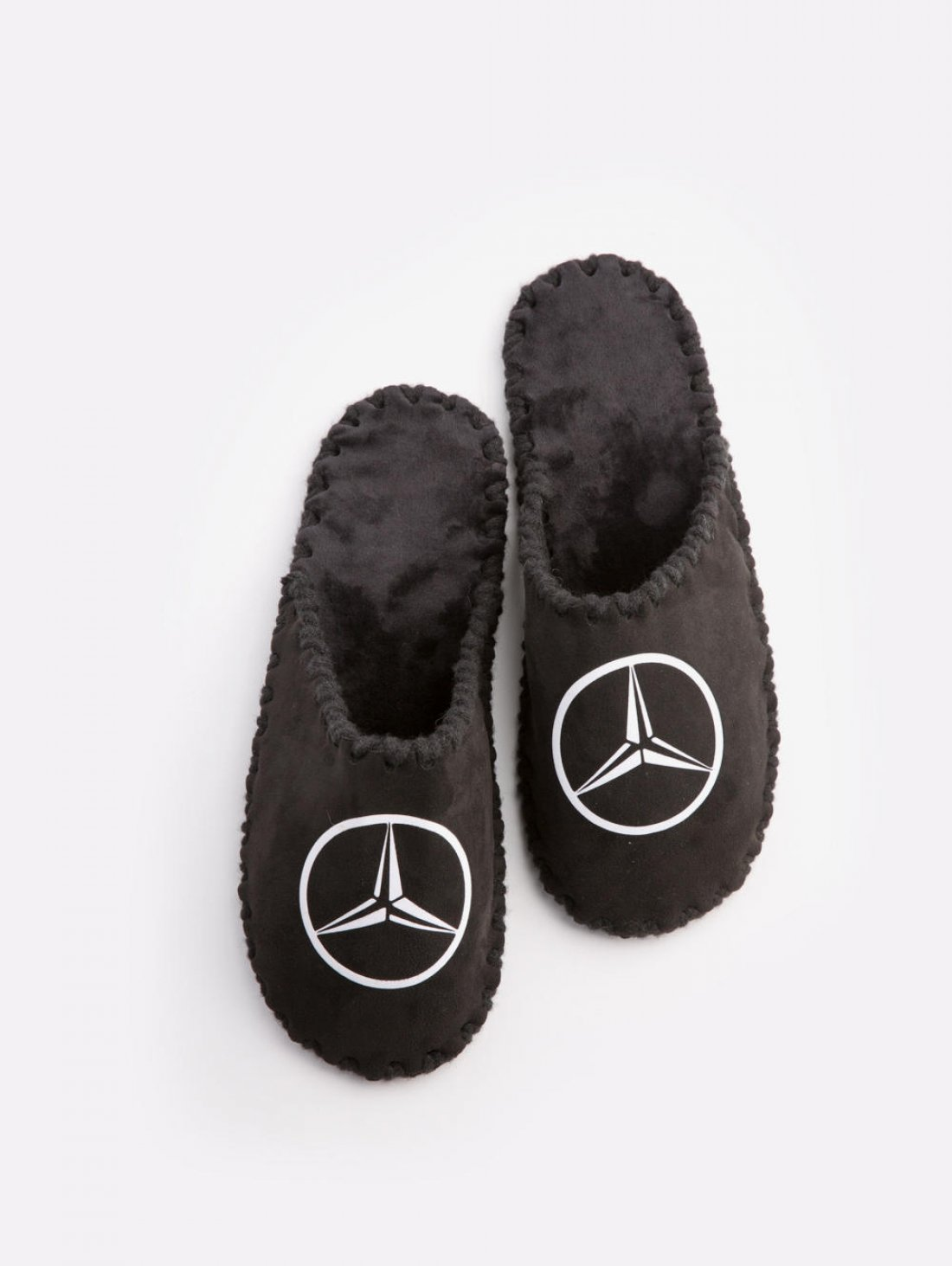 Мужские домашние тапочки Mercedes черные закрытые, Family Story - 2