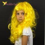 Парик карнавальный желтый оптом фото 01