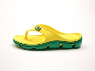 Желтые кроксы вьетнамки C29-40, 4rest, женская обувь оптом, фото 1
