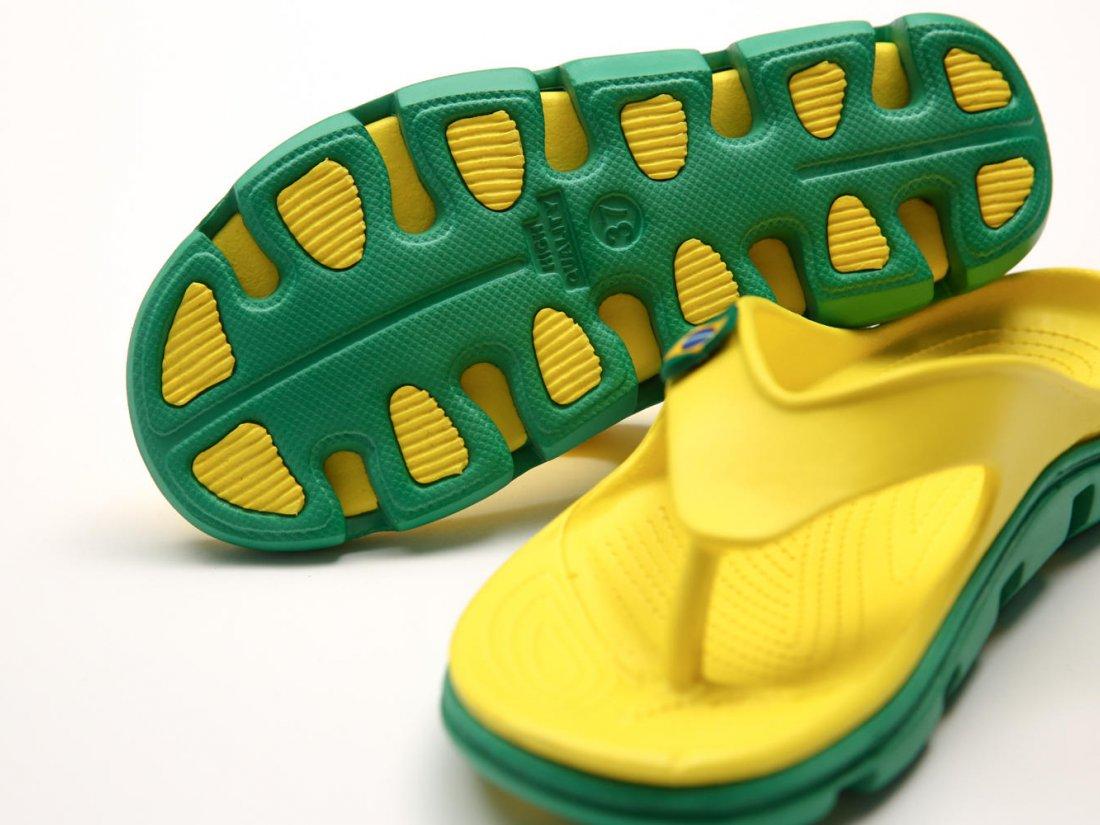 Желтые кроксы вьетнамки C29-40, 4rest, женская обувь оптом, фото 3