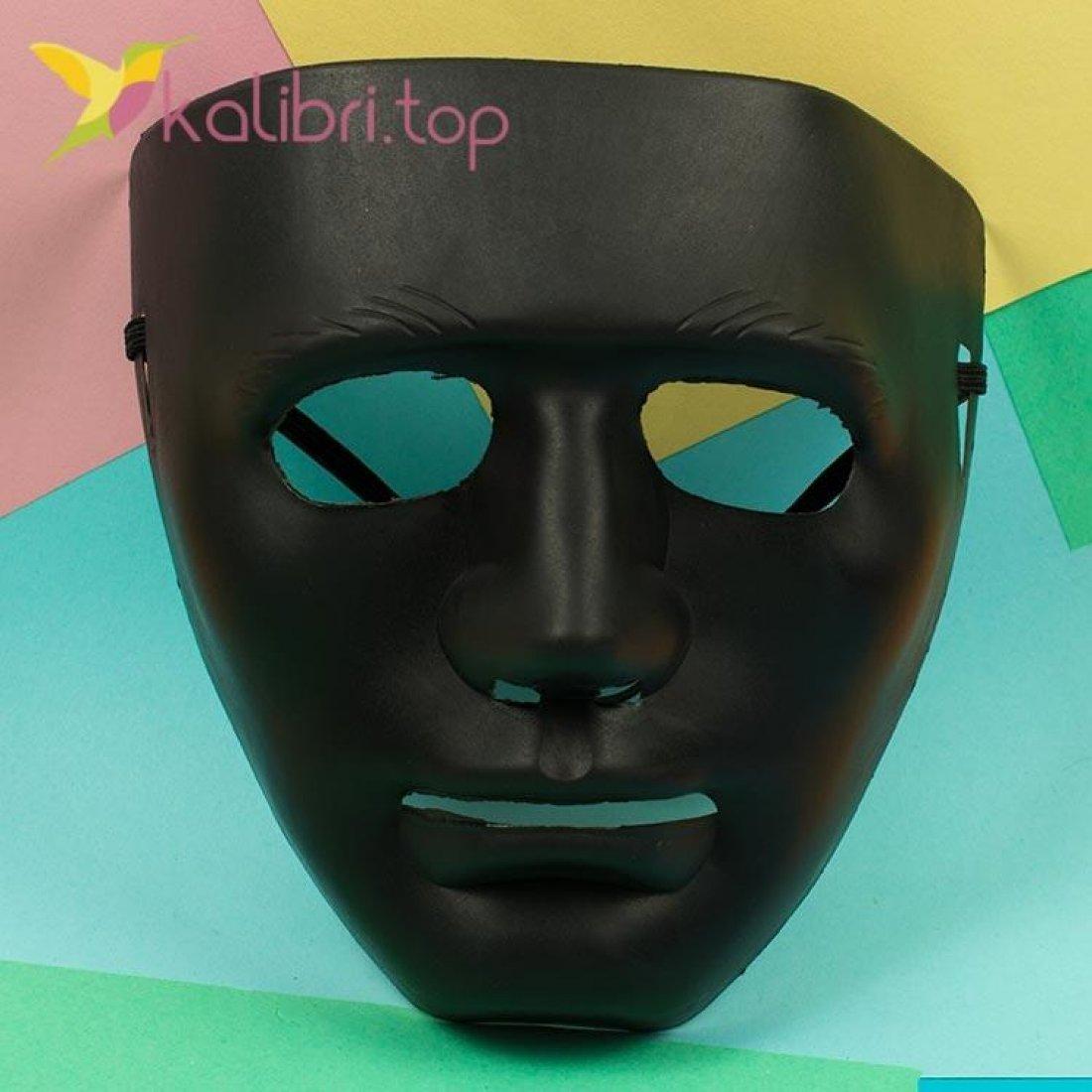 Маска карнавальная Каонаси черная, оптом фото 1