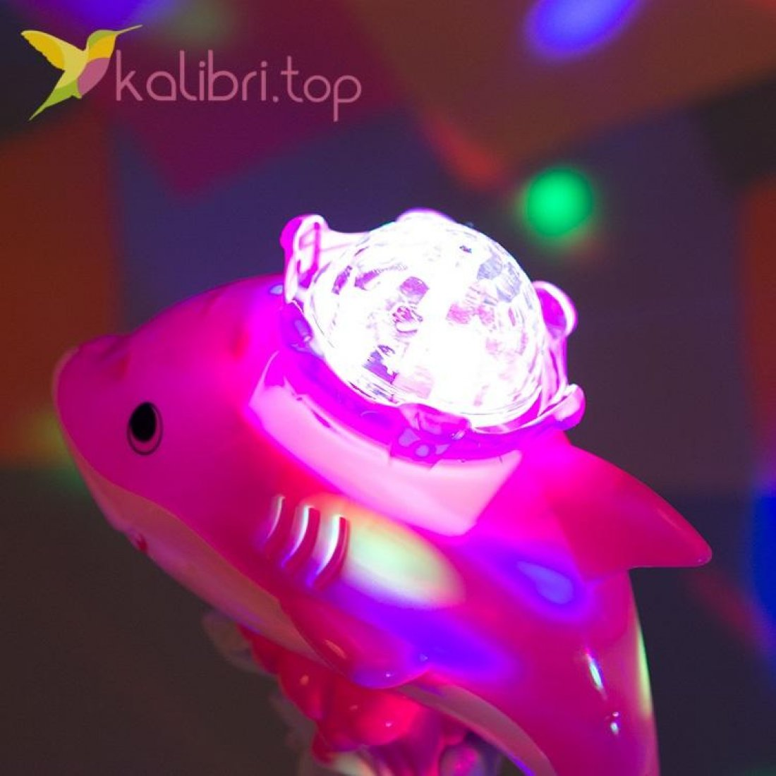 Светящиеся микрофон LED Акула, оптом фото 3