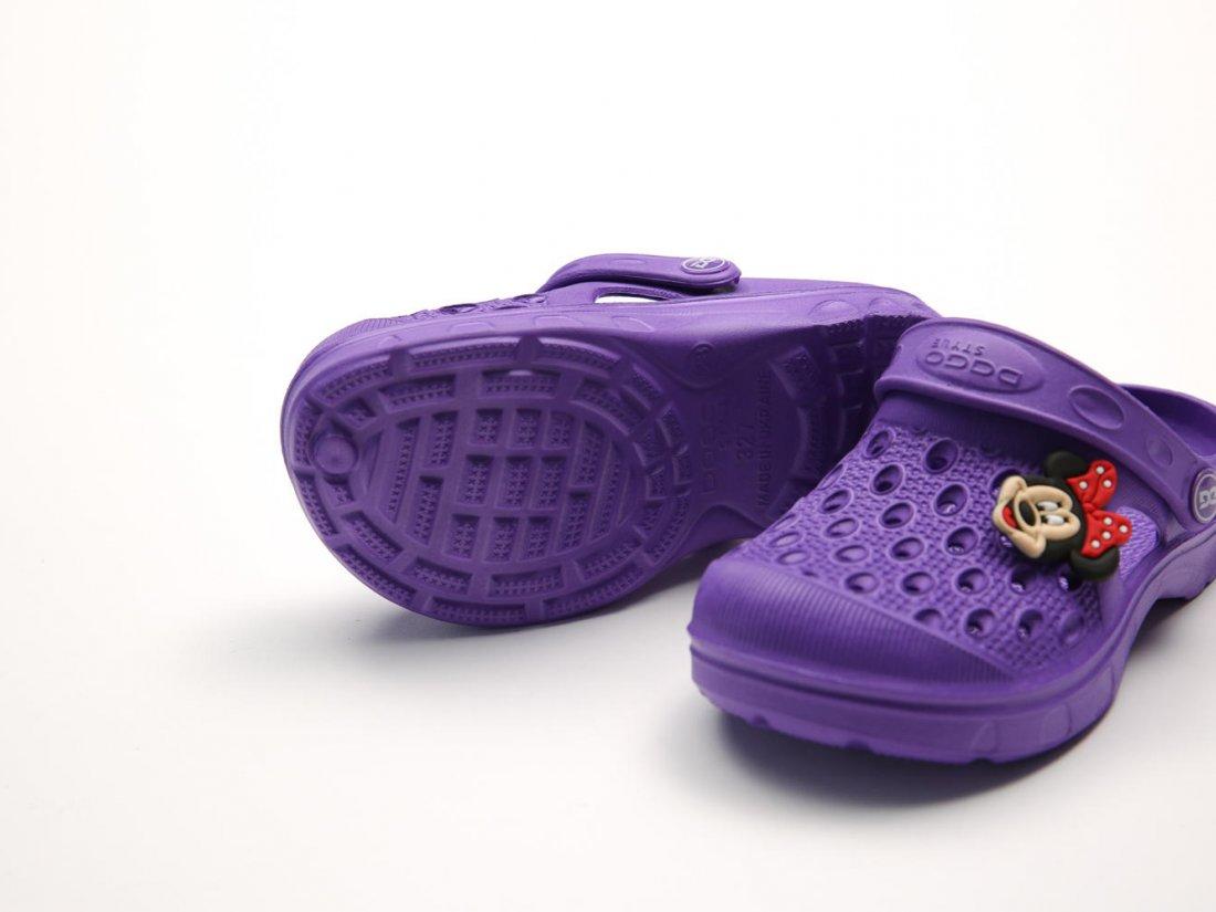 Фиолетовые кроксы оптом C20-34, 4rest, детская обувь оптом, фото 3