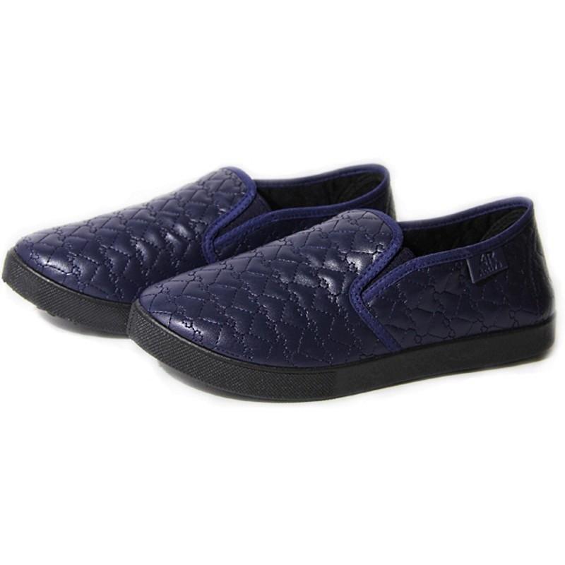 Женские слипоны оптом 27/2-03 PUW синие (36-41), 4rest, обувь оптом, фото - 1
