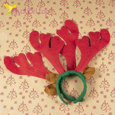 Новогодний обруч оленьи рога красные оптом фото 45554