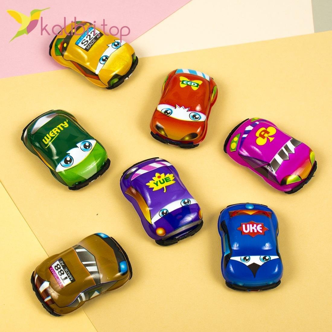 Машинки инерционные цветные, оптом - фото 2