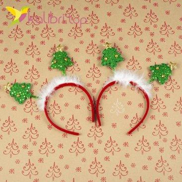 Новогодний обруч елочки и колокольчики оптом фото 65