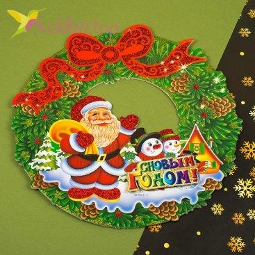 Новогодние наклейки снеговики из пенопласта, оптом фото 1