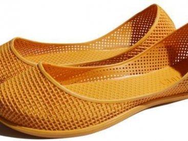 Женские балетки оптом 1419 ПВХ оранжевый, 4rest, обувь оптом