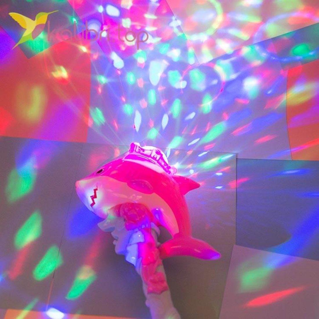 Светящиеся микрофон LED Акула, оптом фото 2