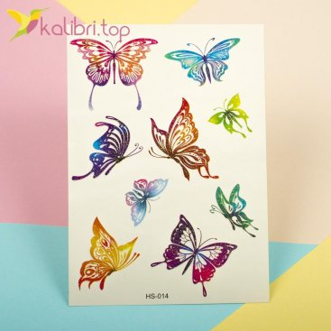 Детские, временные татуировки с блесточками - бабочки оптом фото 1