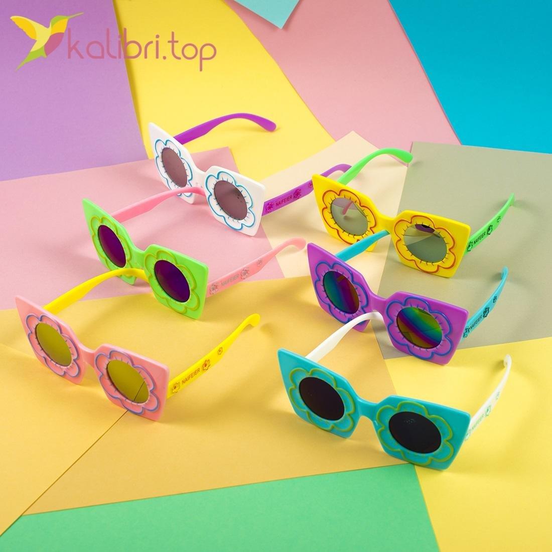 Детские солнцезащитные очки Модняшки, оптом - фото 2