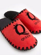 Женские домашние тапочки Queen красные закрытые, Family Story - 3