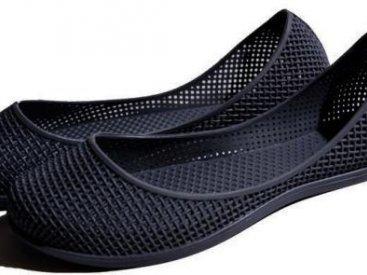 Женские балетки оптом 0319 ПВХ черные, 4rest, обувь оптом