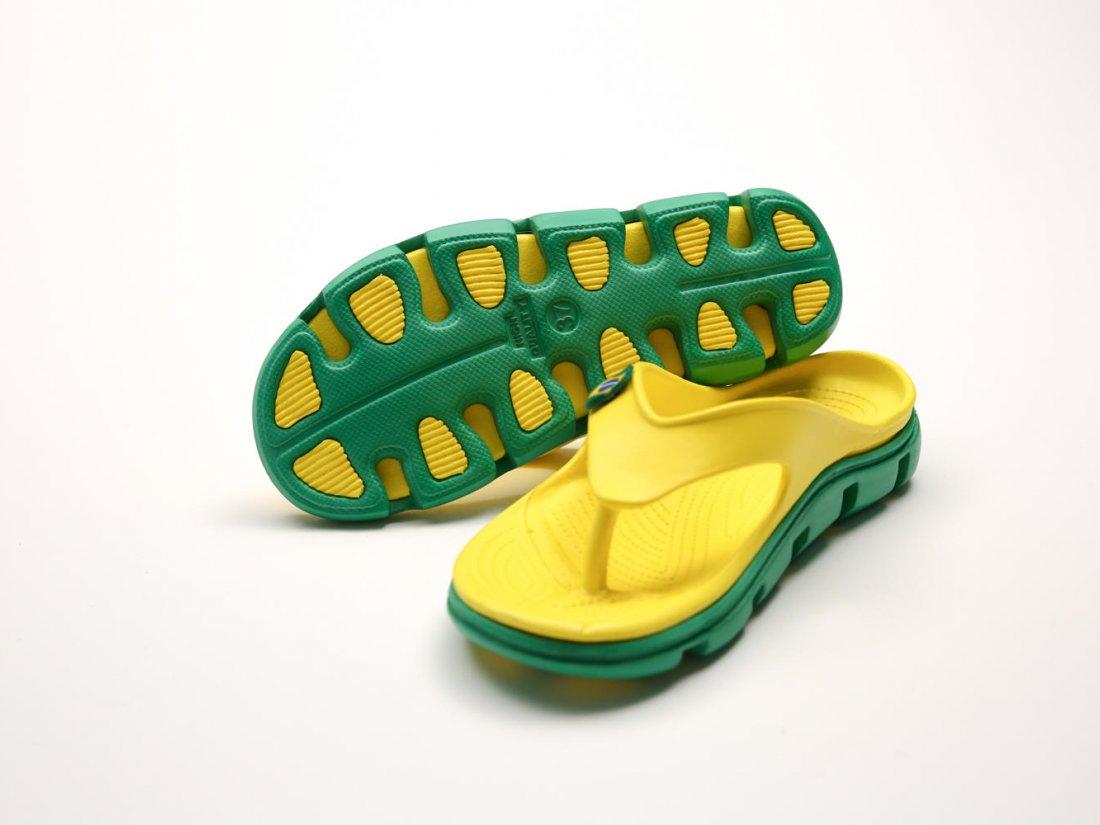 Желтые кроксы вьетнамки оптом C29-45, 4rest, мужская обувь оптом, фото 3