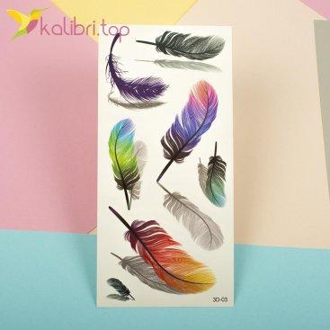 Детские татуировки перья оптом фото 1