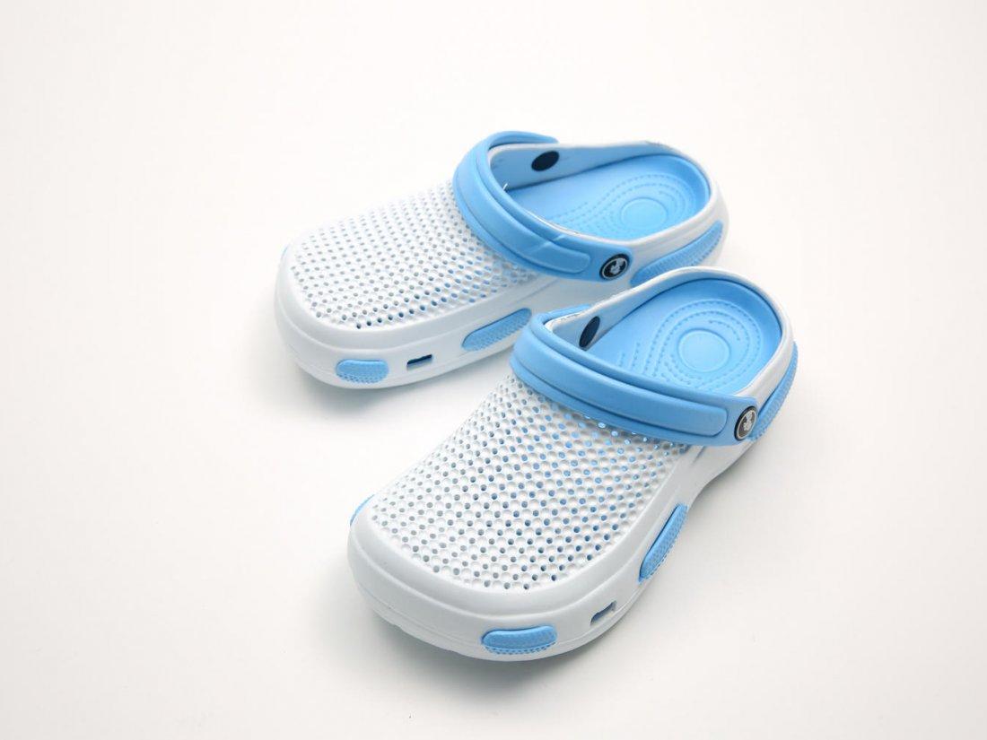 Белые кроксы оптом C07-40, 4rest, женская обувь оптом, фото 2