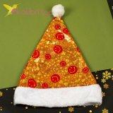 Новогодняя шапка Деда Мороза смайлы, оптом фото 1