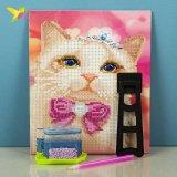 Алмазная живопись по номерам Кошка в короне 21*25 см оптом фото 6602