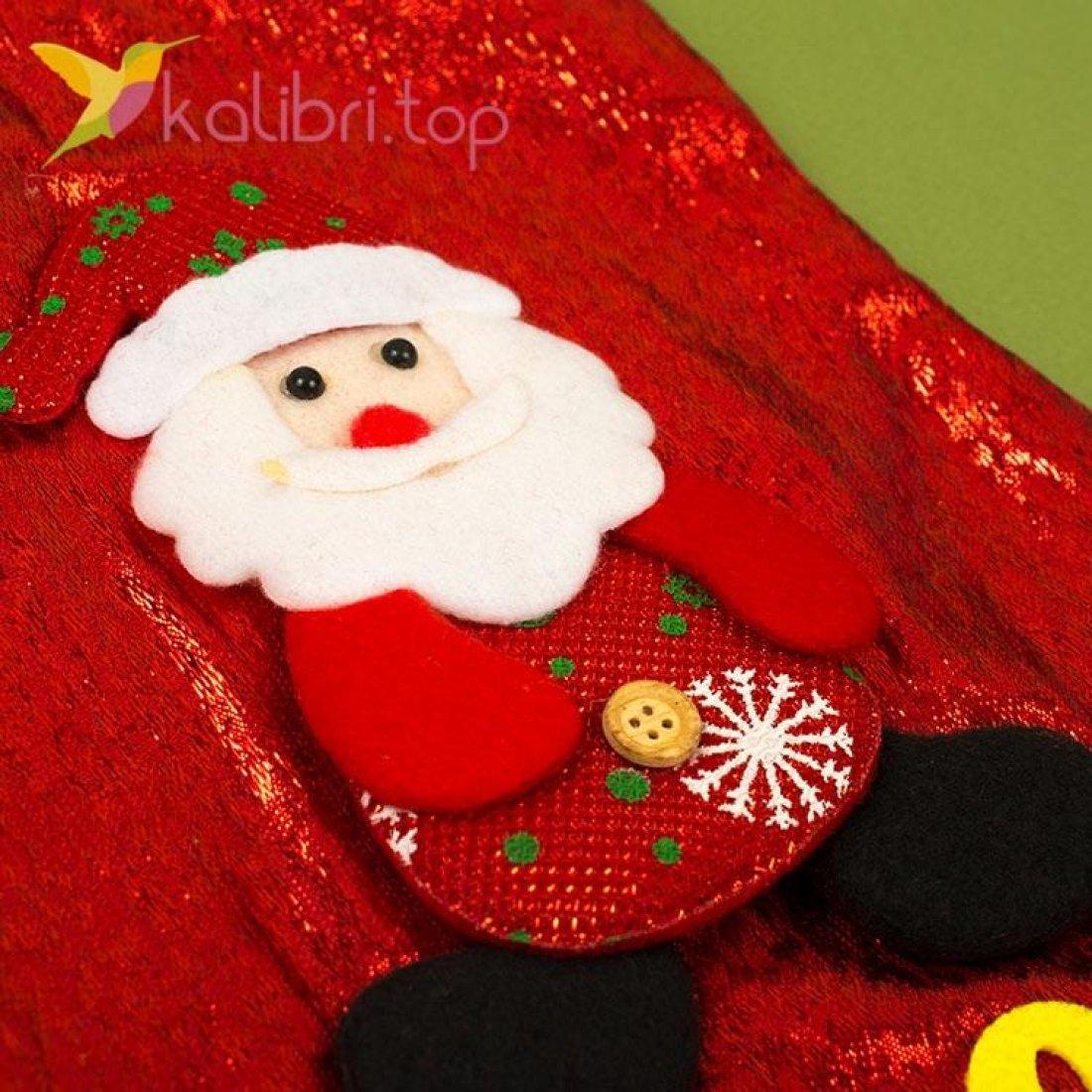 Сапожок для подарков большой с Дедом Морозом 1, оптом фото 2