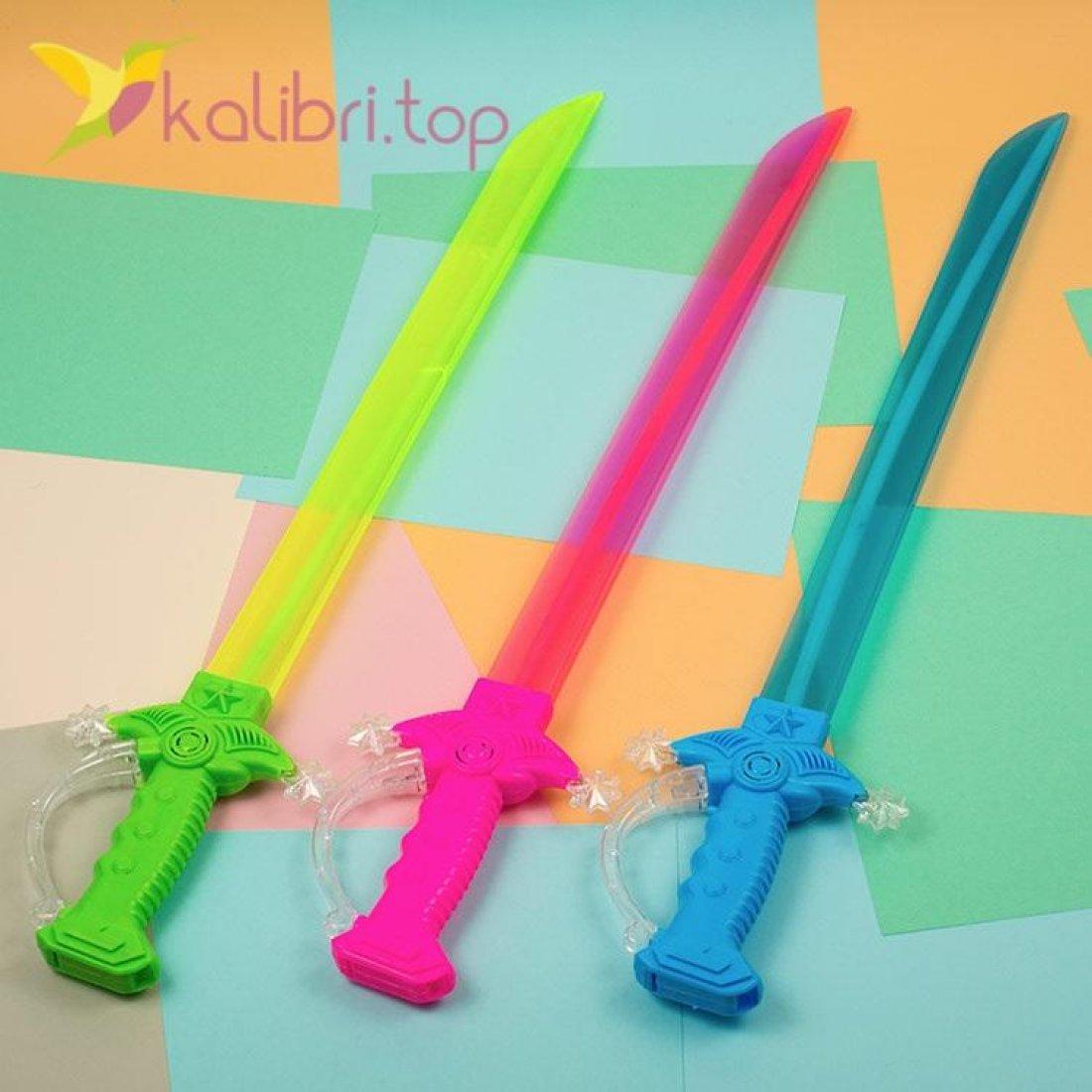 Светящийся меч большой Звезда цветной, оптом фото 1
