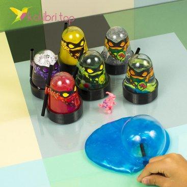 Лизун ниндзя надувной с игрушкой оптом фото 1