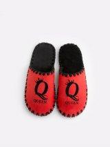 Женские домашние тапочки Queen красные закрытые, Family Story - 4