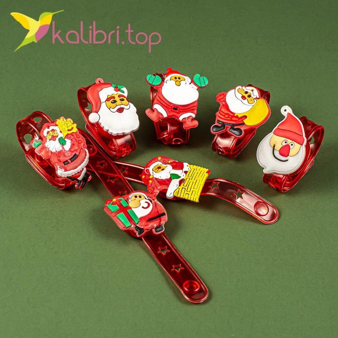 Новогодние светящиеся браслеты Деды Морозы оптом фото 1179
