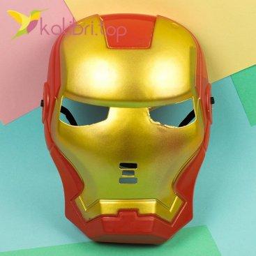 Маска пластиковая Железный человек оптом фото 1