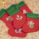 Рождественский декоративный носок микс НК-06 оптом фото 5583