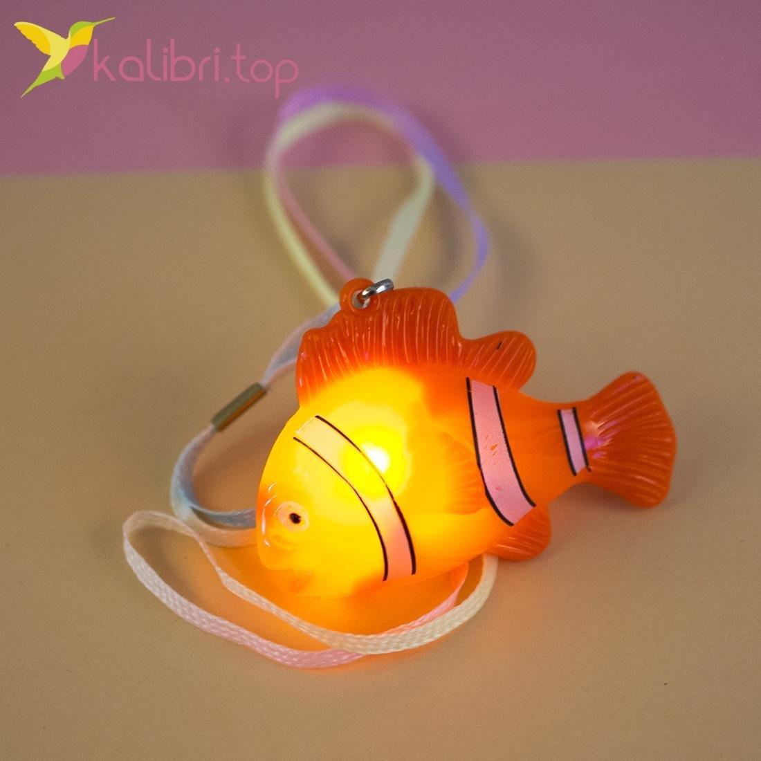 Cветящийся кулон рыбка, оптом - картинка 2