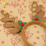 Новогодний обруч оленьи рожки с колокольчиками оптом фото 388