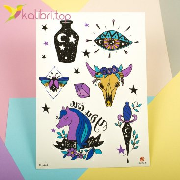Детские, временные, пеоеводные татуировки - Зодиак, оптом - фото 1
