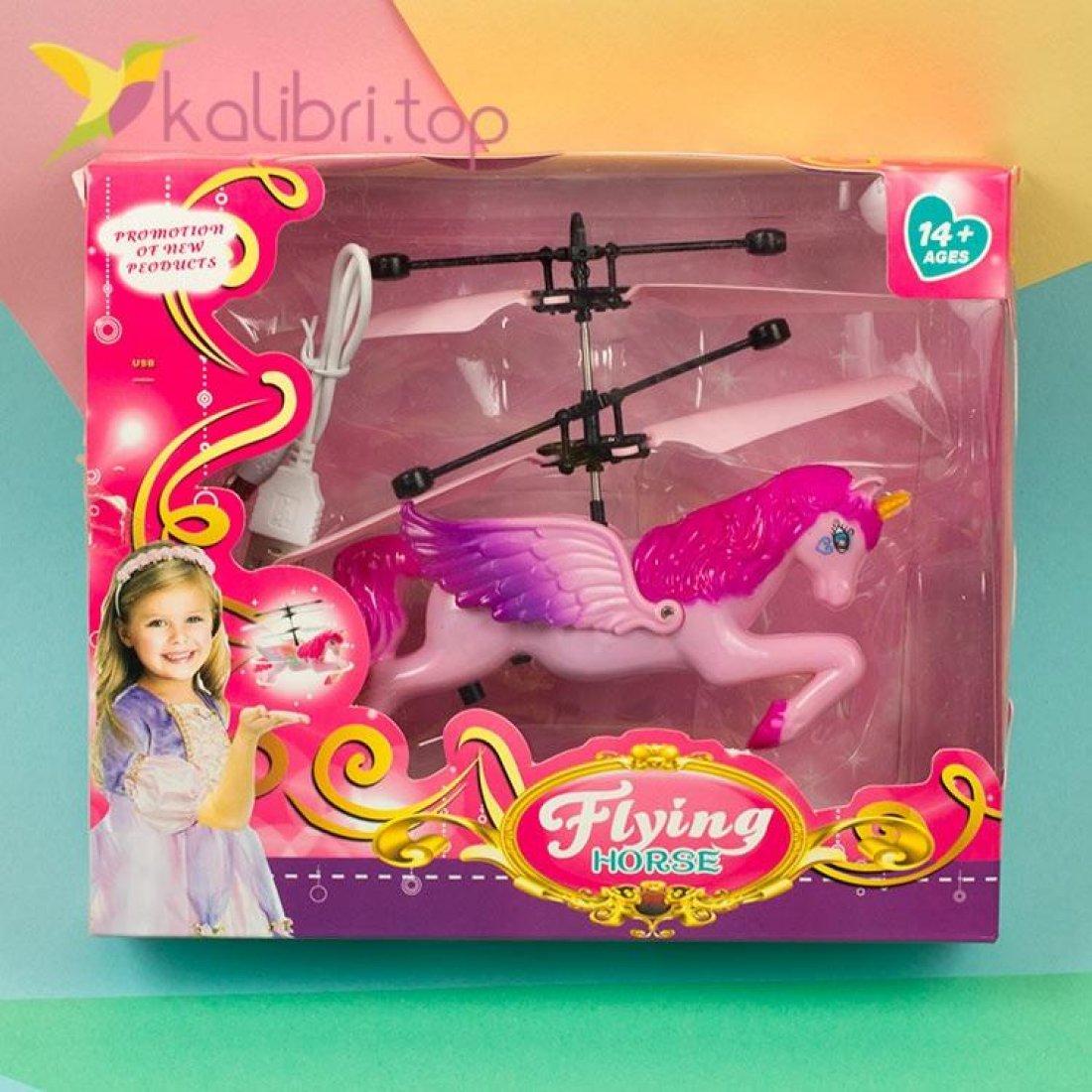 Летающий, светящийся единорог розовый, оптом фото 3
