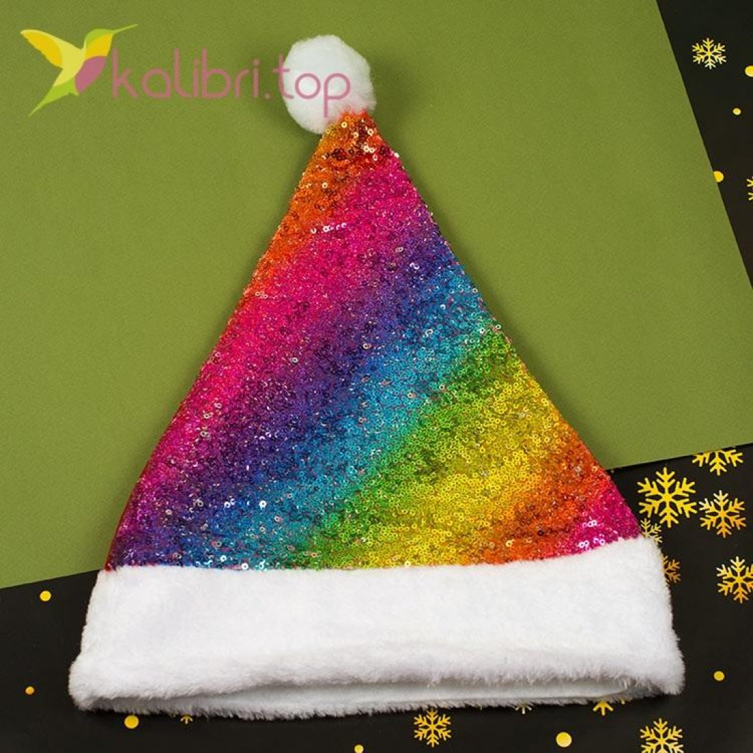 Новогодняя шапка Деда Мороза, оптом фото 1