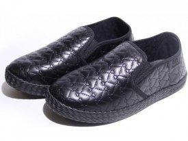 Детские слипоны оптом 11-103 С черные, 4rest, обувь оптом