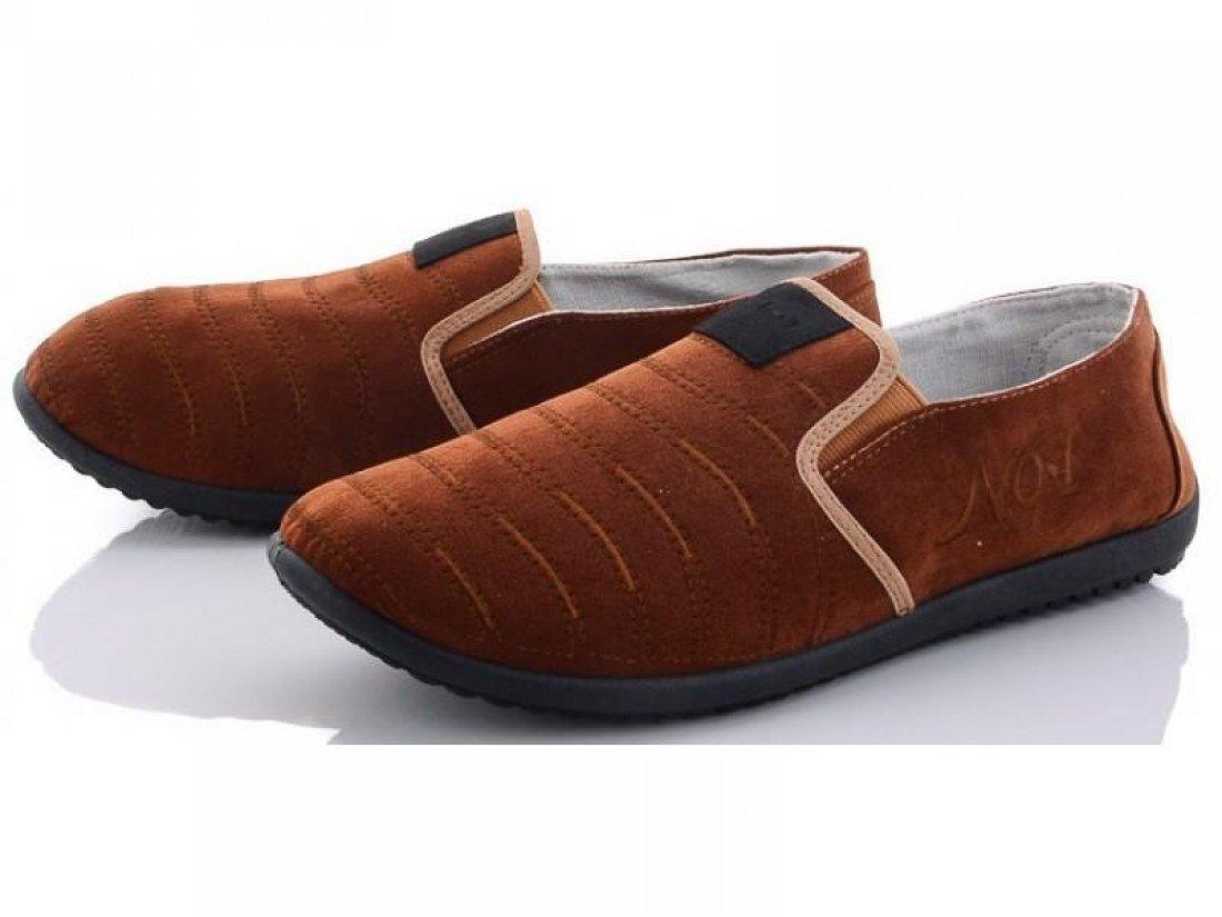Мужские слипоны оптом 13-115/2 M коричневые, 4rest, обувь оптом