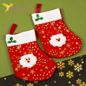 Сапожок для подарков маленький красный, оптом фото 1