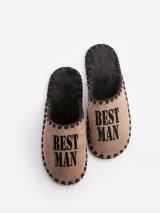 Мужские домашние тапочки Best Man мокко закрытые, Family Story - 1