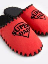 Мужские домашние тапочки Super Dad красные закрытые, Family Story - 4
