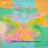 Карнавальные крылья бабочки жёлтый, оптом фото 1