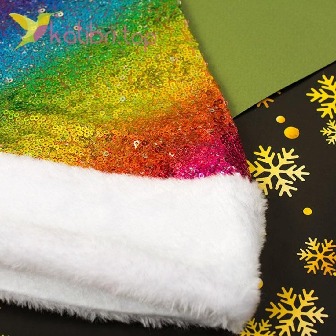 Новогодняя шапка Деда Мороза, оптом фото 2