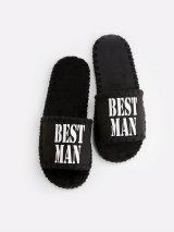 Мужские домашние тапочки Best Man черные открытые, Family Story - 4