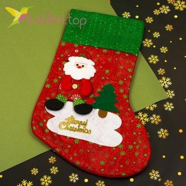 Сапожок для подарков большой с Дедом Морозом 8, оптом фото 1