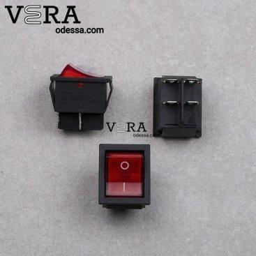 Купить кнопки сетевые для бытовой техники 1 клавиша 10 А оптом, фотография 1